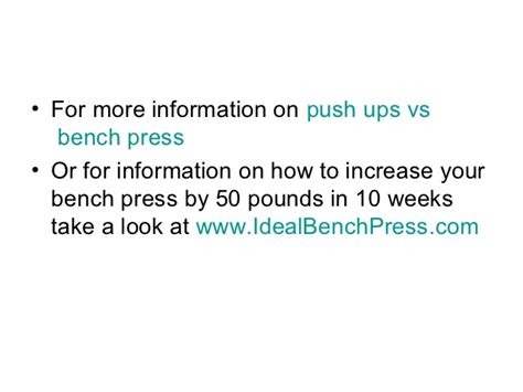 increase your bench press by 50 pounds push ups vs bench press