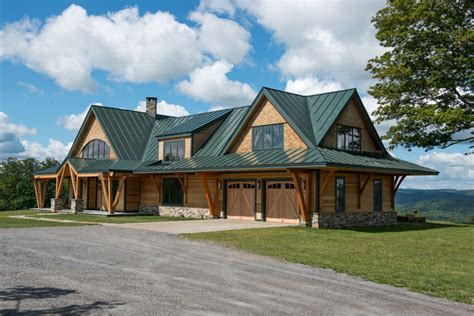 Barn Roof Styles timber frame vermont farm house rustic exterior