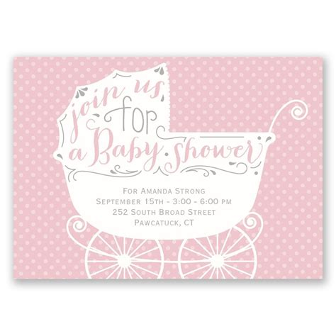 Baby Shower Carriage by Baby Carriage Mini Baby Shower Invitation Invitations By