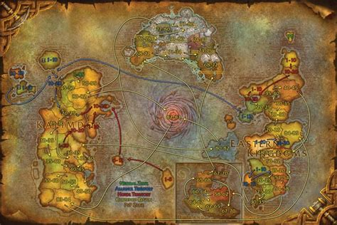 boats vanilla wow horde travel routes world of warcraft maps cataclysm