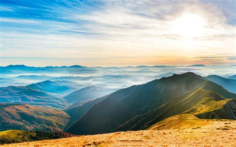 wallpaper hills mountains landscape sunny day