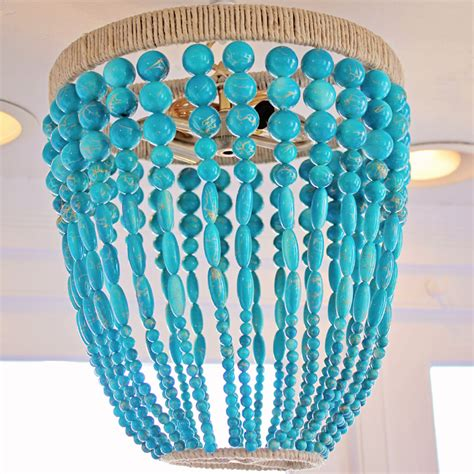 turquoise beaded chandelier ro sham beaux malibu turquoise beaded chandelier by ro