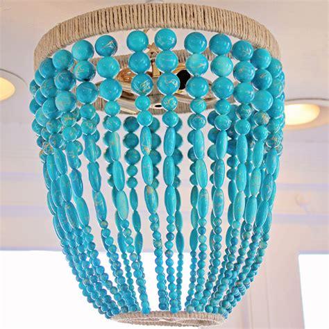 ro sham beaux malibu turquoise beaded chandelier by ro
