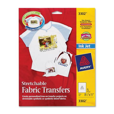 avery iron on transfer paper template avery iron on fabric transfer ld products