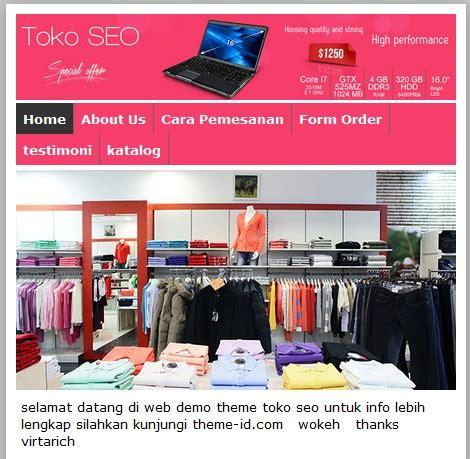 themes toko online wordpress gratis jum atan 6 template toko online toko seo theme id gratis
