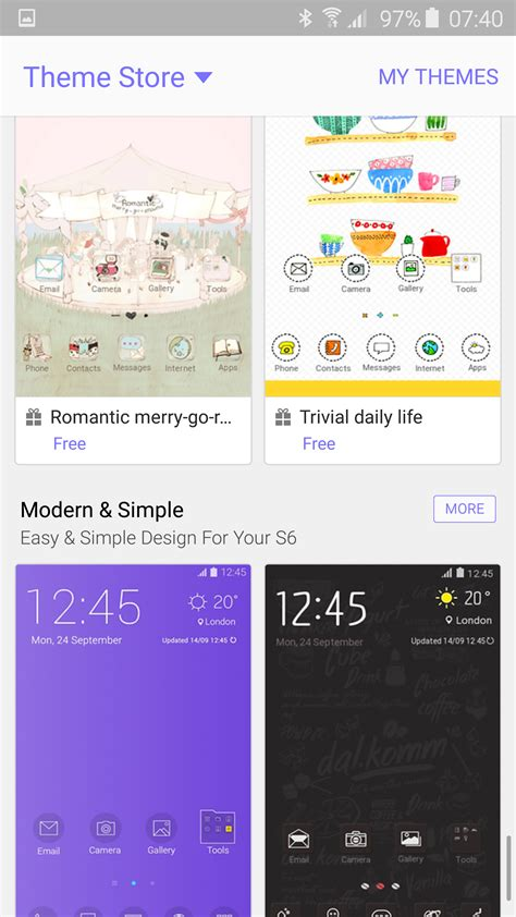 themes store for samsung samsung galaxy s6 themes update gavin s gadgets
