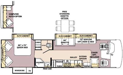 georgetown floor plan 2004 forest river georgetown class a rvweb