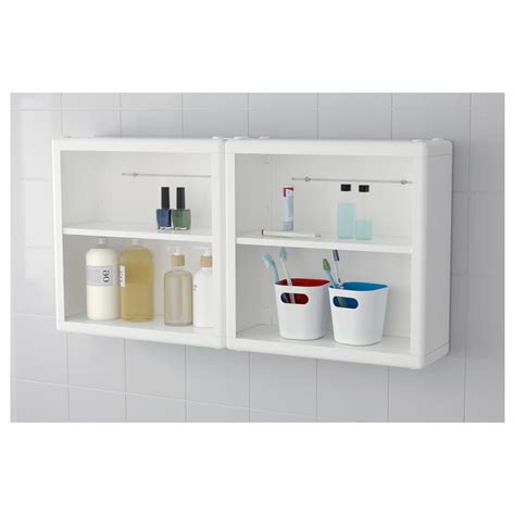 ikea bathroom shelves dynan wall shelf white 40x15x40 cm ikea