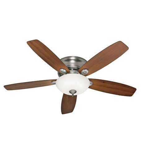 low profile ceiling fan led hunter low profile iv 52 in led indoor antique pewter