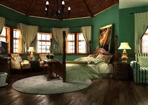 Dark Green Bedroom Ideas bedroom interior decoration in dark green wallpaper dark green