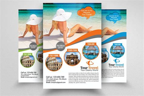 tour flyer template tour travel agency flyer template flyer templates