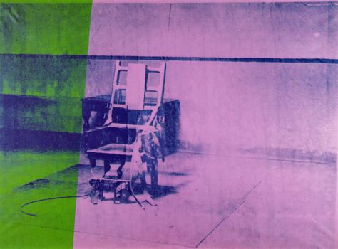 Andy Warhol Electric Chair big electric chair andy warhol wikiart org