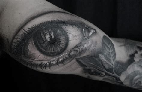 tattoo eyes black black and gray eye by seanor tattoonow