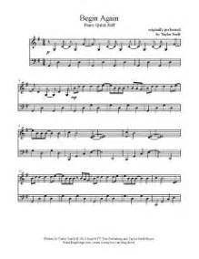 begin again taylor swift easy chords 930 best images about sheet music on pinterest