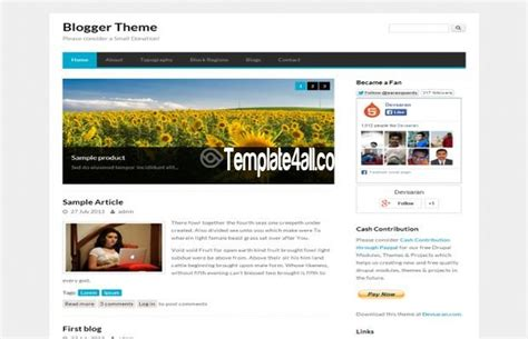 theme drupal blog free clean responsive blog drupal theme download
