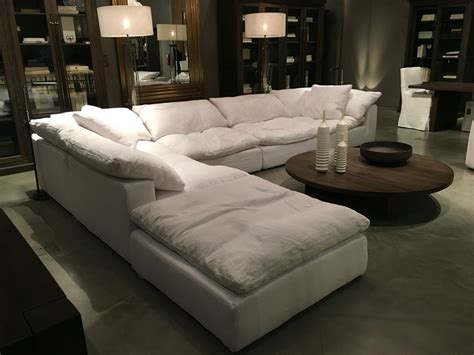 restoration hardware fabric sofas restoration hardware sectional quot cloud quot future