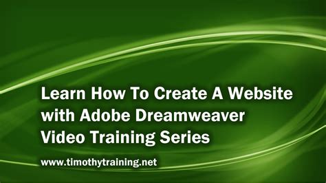 tutorial to create a website in dreamweaver 1 introduction to dreamweaver tutorial cs5 youtube