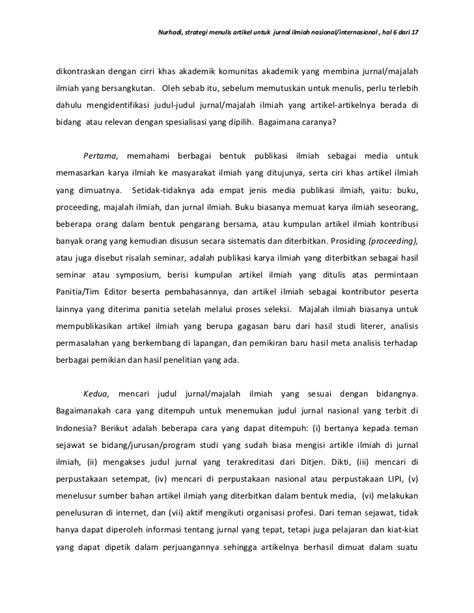 format footnote dari jurnal strategi menulis artikel untuk jurnal ilmiah nasional