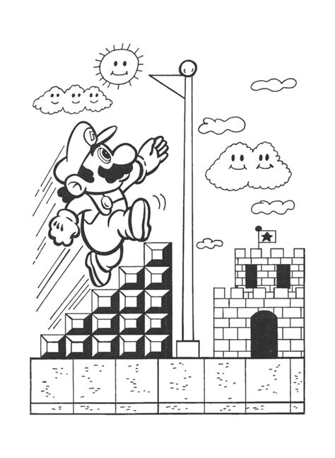 nintendo toad coloring pages coloring pages