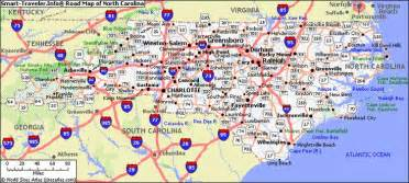 carolina road map list cities towns carolina carolina map directory