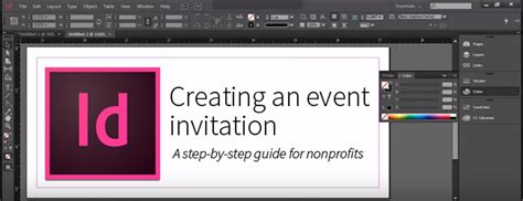 creating invitation indesign creating an event invitation using adobe indesign