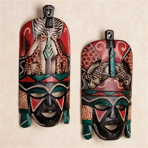 Southern Home Decor Ideas by African Tribal Wall Mask Set