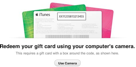 Itunes Gift Card Barcode - redeem itunes gift cards using your computer s camera itunes 11