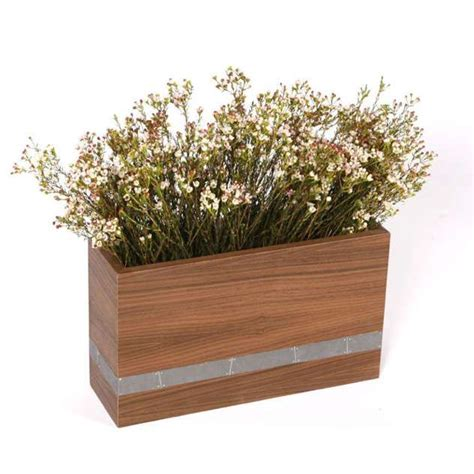 designer wood planter boxes modern wood planter box by