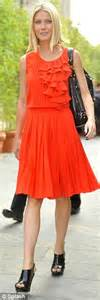 Pusat Grosir Baju Luxury Dress 2 Orange Skin the future s bright gwyneth paltrow steps out in two orange dresses in one day daily mail