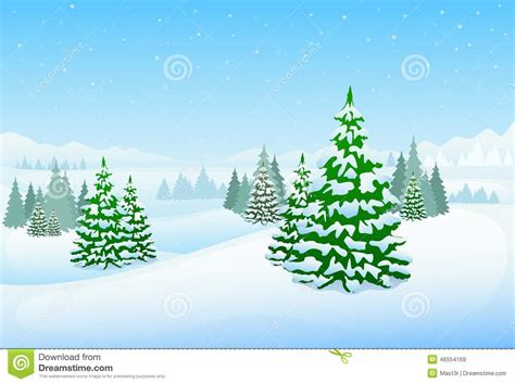 winter forest landscape christmas background pine stock vector image