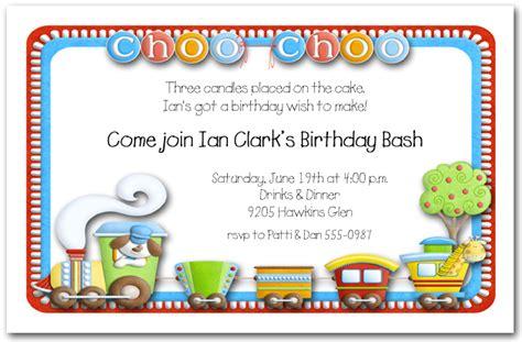 choo chootrain invitations train birthday party invitations