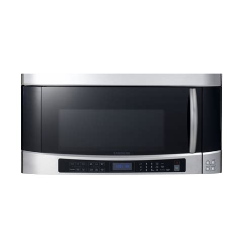 shop samsung 2 cu ft the range microwave with sensor cooking controls stainless steel