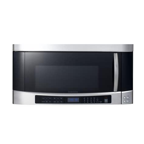 samsung the range microwave shop samsung 2 cu ft the range microwave with sensor cooking controls stainless steel