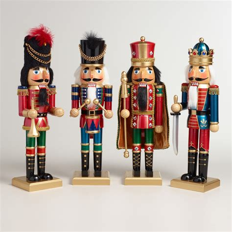 tall traditional nutcrackers set of 4 world market