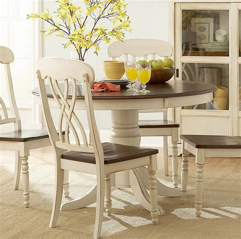 6 piece dining room sets homelegance ohana 6 piece round dining room set in white