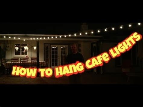 how to hang cafe lights 10 collection of hanging outdoor cafe lights