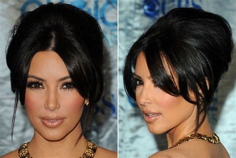french roll hairstyles with bangs kim kardashian s french roll hairstyle hairstyles