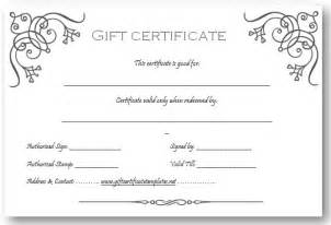 free printable gift certificate templates business gift certificate template gift ideas