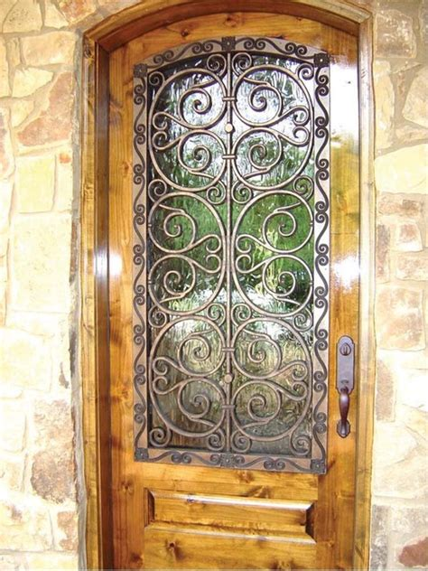 Front Door Covers Faux Iron Door Cover Eclectic Front Doors Dallas By Budget Blinds Of Dallas Park Cities