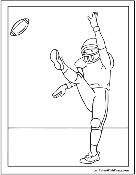 football coloring page pdf football coloring pages customize and print pdf