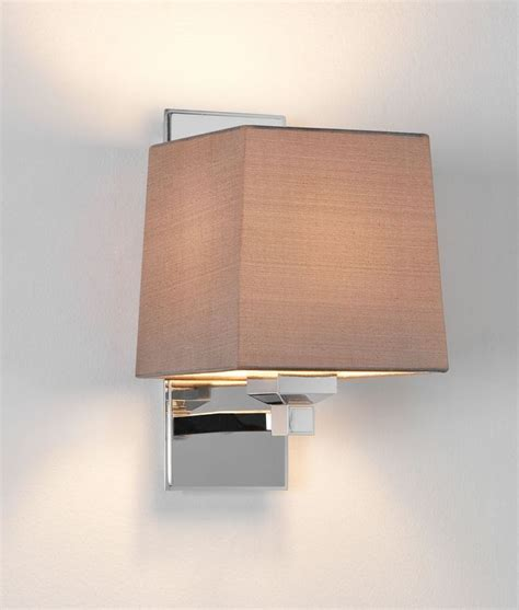 polished nickel bedside light with shade
