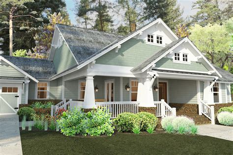 craftsman cottage plan 16887wg 3 bedroom house plan with swing porch