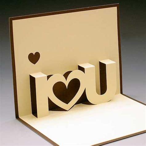 I U Pop Up Card Template by валентинки из бумаги мастер поделок
