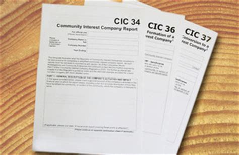 Cic Annual Report Template Office Of The Regulator Of Community Interest Companies