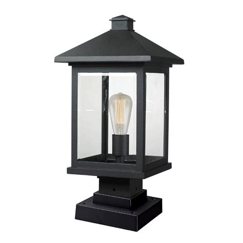 Pier Mount Outdoor Lights Filament Design Malone 1 Light Black Outdoor Pier Mount Cli Jb047554 The Home Depot