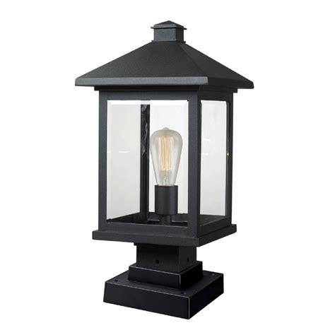 Outdoor Pier Lighting Fixtures Filament Design Malone 1 Light Black Outdoor Pier Mount Cli Jb047554 The Home Depot