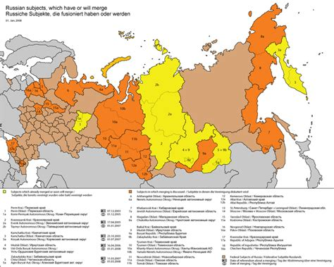 russia map states federal subjects of russia