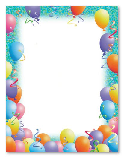 party stationery letterhead stationery letterhead 8726
