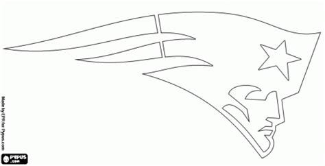 nfl symbols coloring pages nfl team outlines new england patriots logo american