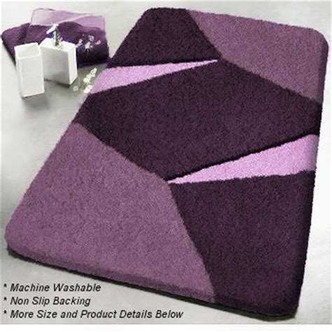 unique non slip contemporary bathroom rugs geometric
